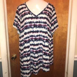 Lane Bryant size 26/28 asymmetrical tunic tee